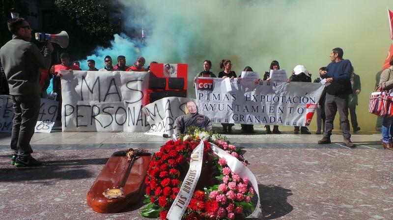 protesta trabajadores ayuntamiento granada